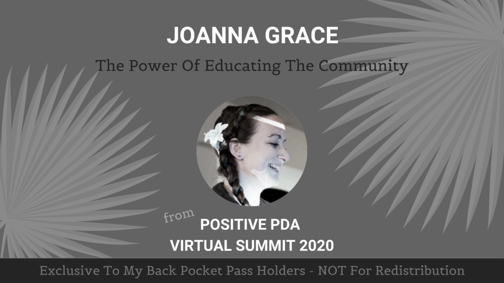 Joanna Grace - The Power Of Educating the Community